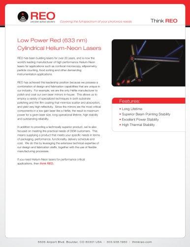 633 nm Red Helium-Neon Laser
