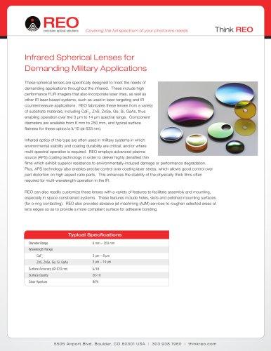 Infrared Spherical Lenses