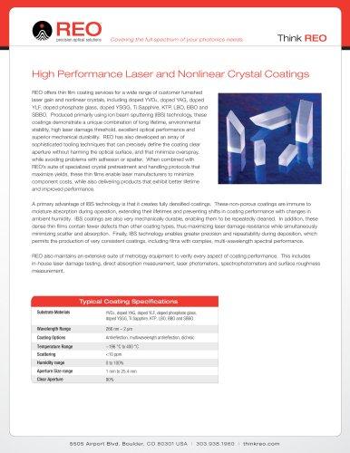 Nonlinear & Gain Crystal Coatings