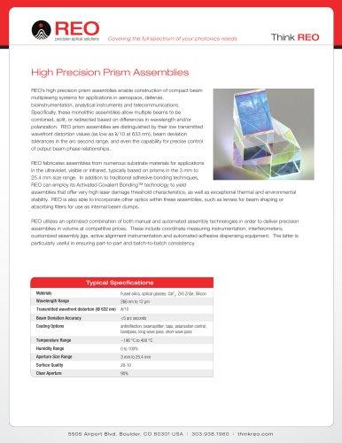 Precision Prism Assemblies