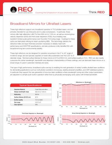 Ultrafast Broadband Mirrors