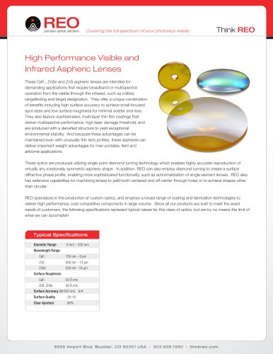 Visible & Infrared Aspheric Lenses