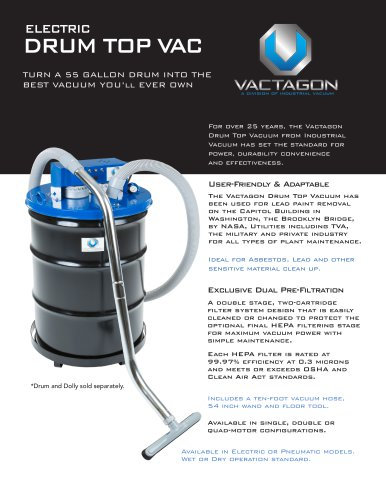 Vactagon Drum Top Electric Vacuum
