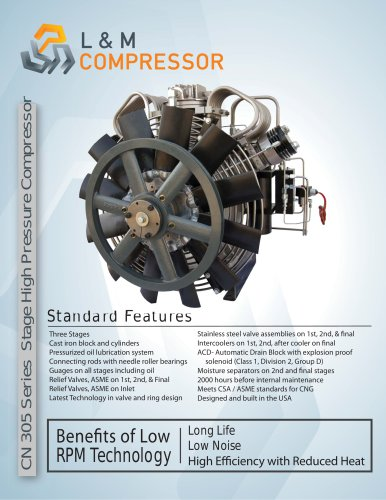 CN 305 Series Stage High Pressure Compressor