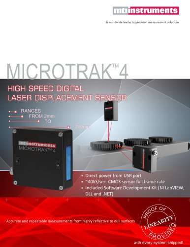 Microtrak 4 Laser Sensor