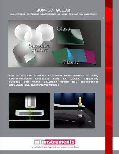 Non conductive material measurement