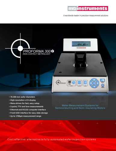 Wafer and Thin Film Thickness Measurement