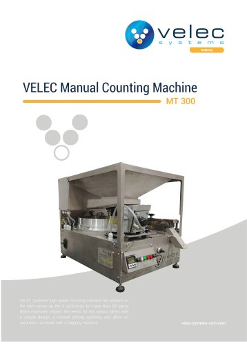 Manual coins counter MT 300