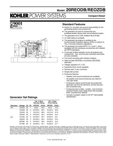 Diesel Generators / 20REODB/REOZDB