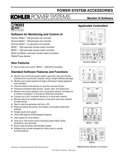 Generator Controls / Advanced Digital Control