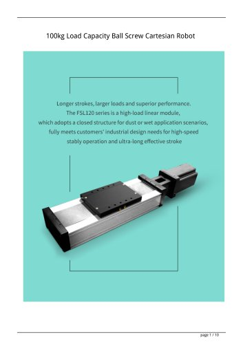 100kg Load Capacity Ball Screw Cartesian Robot