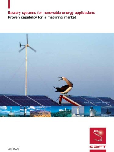 Battery systems for renewable energy applications