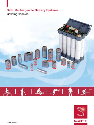 Saft Rechargeable Battery Systems - Catatog technico