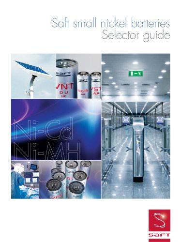 Saft small nickel batteries selector guide