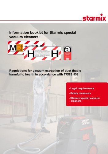 Regulations for vacuum extraction of dust that is harmful to health in accordance with TRGS 559