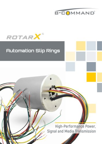 Automation Slip Rings rotarX by B-COMMAND