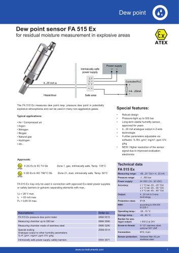 Data sheet FA 515 Ex