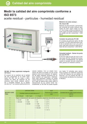 Hojas de datos técnicos - OILCHECK solución fija-continua