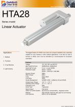 HTA28 linear actuator catalog