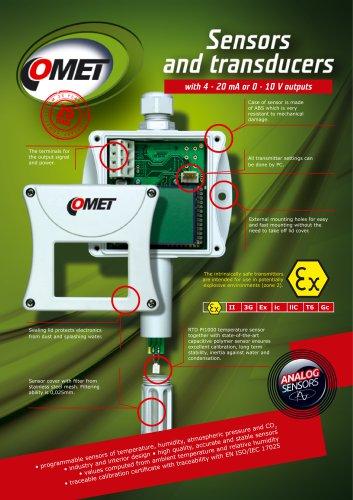 Analog Sensors with 0-10 V or 4-20 mA output