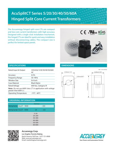 Compact Split Core Current Transformer