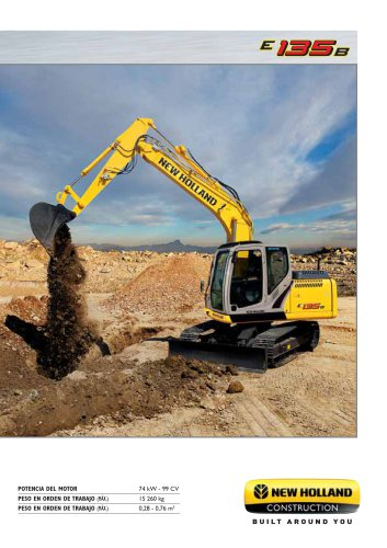 Excavadoras hidráulicas de cadenas  E135B
