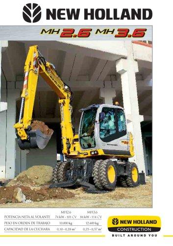 Excavadoras hidráulicas de ruedas > MH3.6 Tier 3A