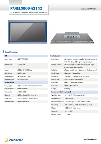 PANEL5000-A2152 Datasheet