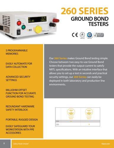 260 Series - Ground Bond Tester