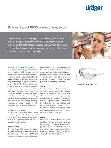 Dräger X-pect 8000 protective eyewear