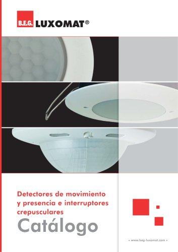 Detectores de movimiento y presencia e interruptores crepusculares Catálogo
