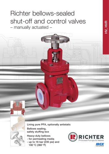 bellows-sealed shut-off and control valves