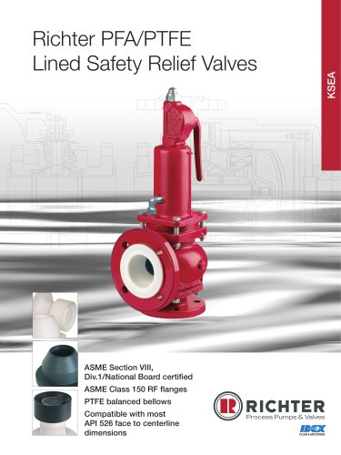 Lined safety relief valves