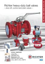 Richter heavy-duty ball valves – shut-off, control and drain valves – KN