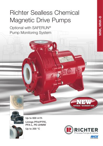 Sealless Chemical Magnetic Drive Pumps MNK