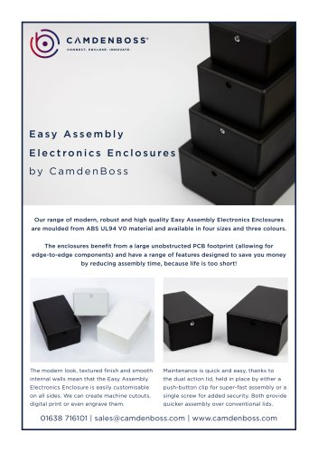 Easy Assembly Electronics Enclosure