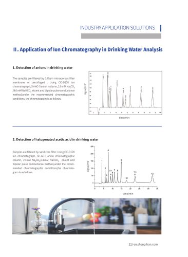 Application of Ion Chromatography in Drinking Water Analysis