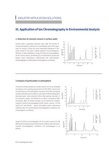 Application of Ion Chromatography in Environmental Analysis