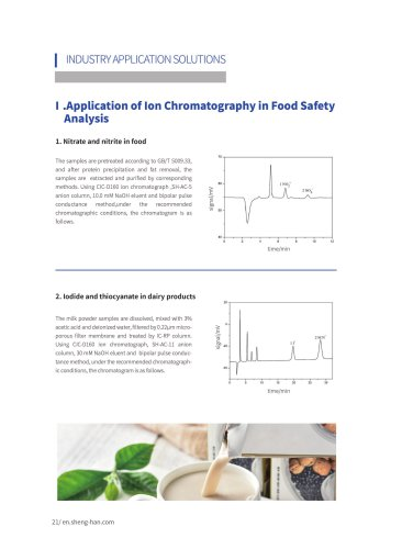 Application of Ion Chromatography in Food Safety  Analysis