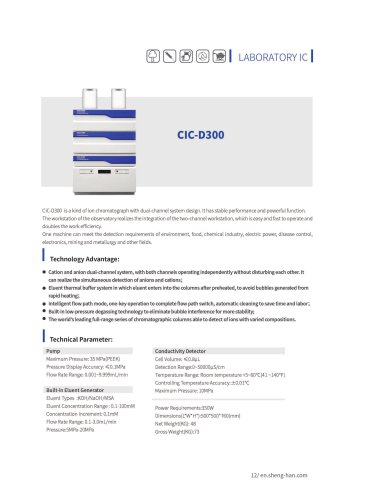 SHINE- Ion Chromatograph CIC-D300
