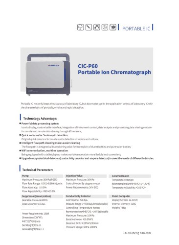 SHINE- Portable Ion Chromatograph CIC-P60