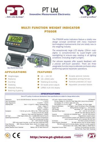 PT600R Advanced Function Digital Indicator