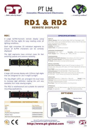 RD1 & RD2 REMOTE DISPLAYS