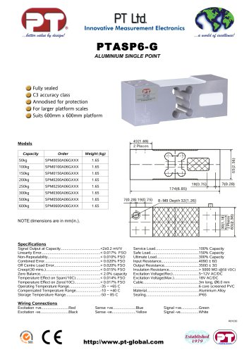 Single Point Load Cells-Aluminium, Low Cost, 600x600mm platform