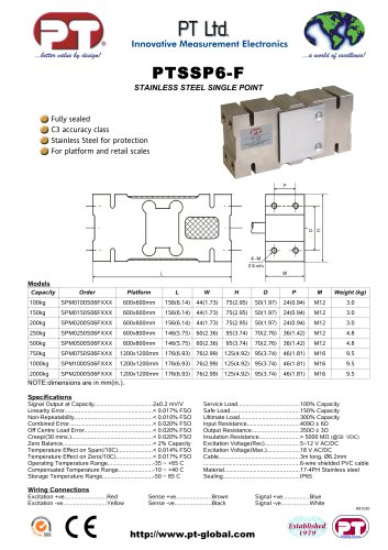 Single Point Load Cells-Stainless, Affordable 600x600mm to 1200x1200mm platforms