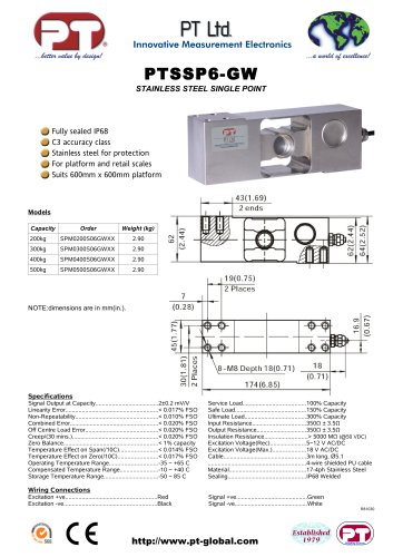 Single Point Load Cells-Welded Stainless, Affordable, 600x600mm platform
