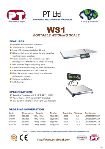 WS1 Weighing Scale Brochure