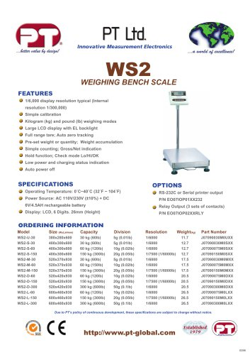 WS2 Weighing Scale Brochure