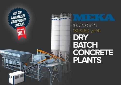 DRY BATCH CONCRETE PLANTS