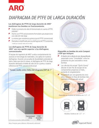 DIAFRAGMA DE PTFE DE LARGA DURACIÓN